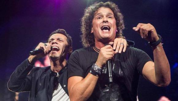 Ambos artistas se presentaron en el Estadio Nacional. (Foto: Marc Anthony Facebook)