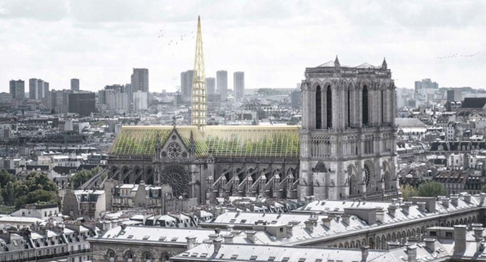Este esquema es uno de los muchos producidos en respuesta al incendio de Notre Dame. (Foto: Studio NAB)