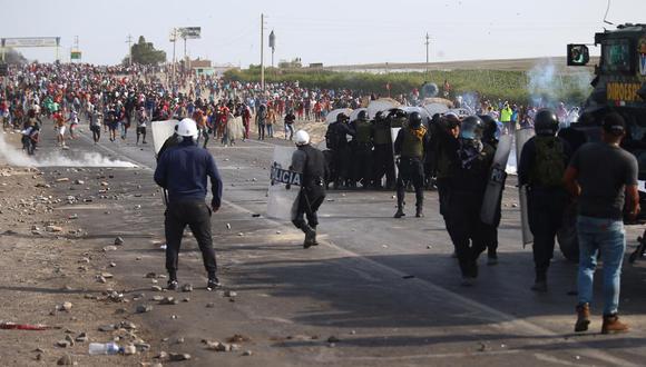CNDDHH señala que dos jóvenes agricultores  fueron heridos por la PNP en protesta agropecuaria en Ica (Foto : Hugo Curotto / GEC)