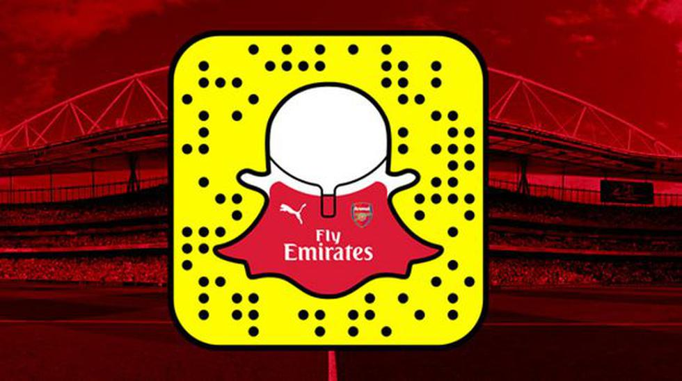 Snapchat: Arsenal de Inglaterra creó un entretenido perfil - 1