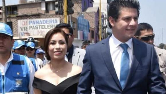 La congresista Leslye Lazo (Acción Popular) es esposa del alcalde de San Martín de Porres, Julio Chávez.