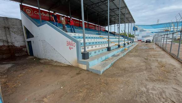 """Piura: habilitarán tribuna del estadio """"Campeones del 36"""" para albergar a familiares de pacientes COVID-19 (Foto: Municipalidad Provincial de Sullana)"""
