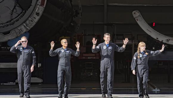 La tripulación de Inspiration4 despega en el Centro Espacial Kennedy de la NASA en Florida, el 15 de septiembre de 2021. (SpaceX)