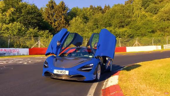 Según registros, el McLaren 720S piloteado por Christian Gebhardt alcanzó una velocidad máxima de 318 km/h. (Foto: YouTube).