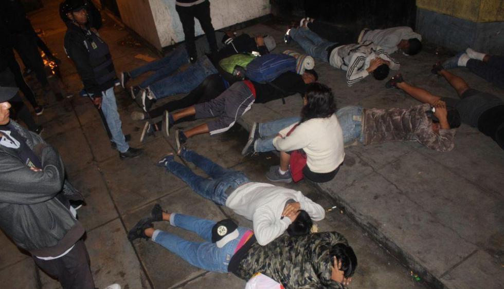 Municipalidad de Los Olivos intervino a 14 venezolanos durante una operación en la urbanización El Trébol. (Difusión)