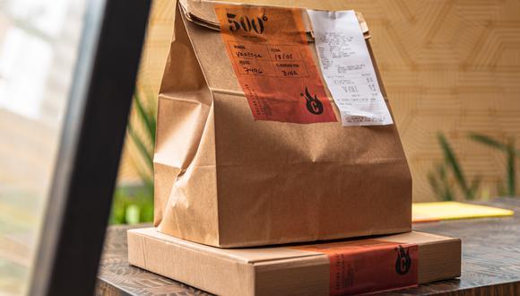 Muchos restaurantes han creado cartas nuevas para el delivery; otras han adaptado algunos de sus platos para el nuevo formato. En foto, packaging del restaurante 500 grados.