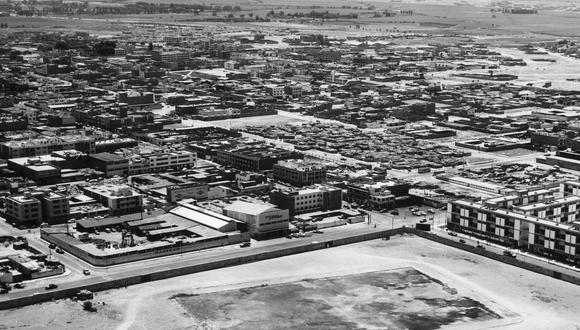 Vista aérea del barrio de Matute, en La Victoria, en 1966. (Foto: Archivo Histórico de El Comercio)