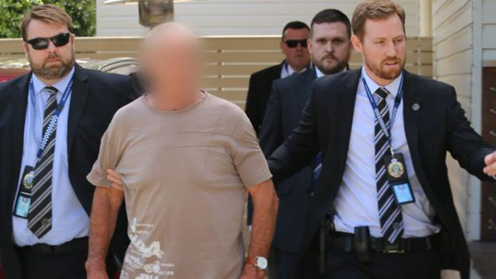 Christopher Dawson, de 70 años, fue arrestado cuando se encontraba en la casa de su hermano. (NSW POLICE)