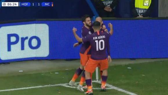 A los 87' minutos, David Silva le robó una pelota a un defensor del Hoffenheim y decretó el 2-1 definitivo en Alemania, por la Champions League. (Foto: captura de video)