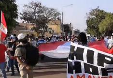 Chiclayo: cientos de personas salen a las calles para protestar y celebrar renuncia de Merino   VIDEO