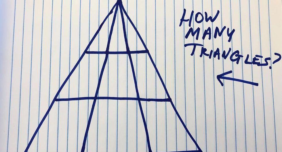 ¿Cuántos triángulos puedes ver en esta imagen? (Popular Mechanics / Instagram)