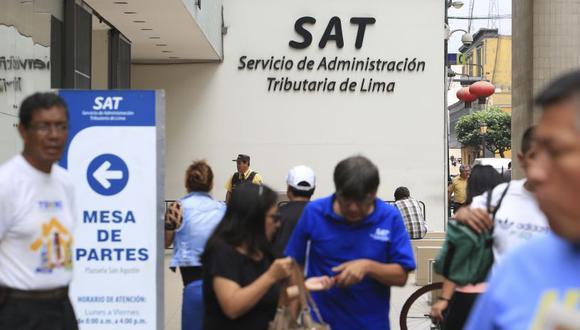 El remate se desarrollará en la sede central del SAT, situada en el jirón Camaná. (El Comercio)
