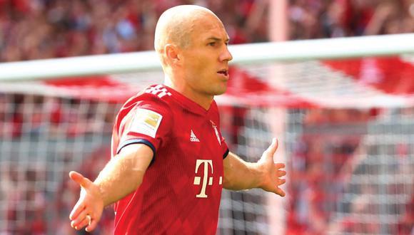 Arjen Robben marcó golazo para Bayern Munich en el Allianz Arena. (Foto: Reuters)