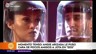 Angie Arizaga mostró su incomodidad al competir con Jota Benz