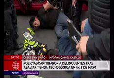 San Isidro: Policía frustra robo a tienda de equipos electrónicos