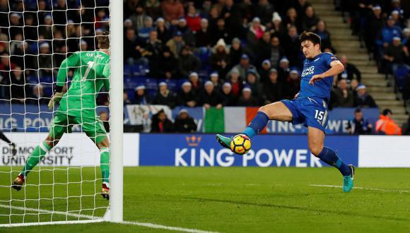 Manchester United sufrió gol de último minuto y empató 2-2 ante Leicester. (Foto: AFP)