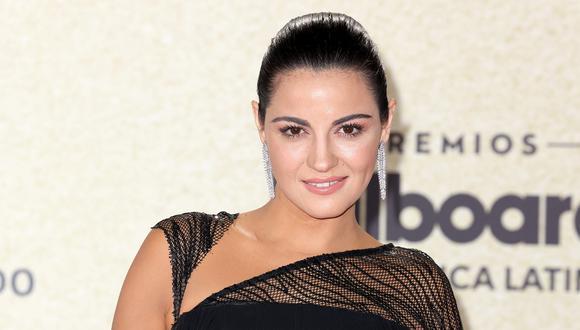 Maite Perroni en la alfombra roja de los Premios Billboard de la Música Latina 2021. Foto: Alexander Tamargo/Telemundo.