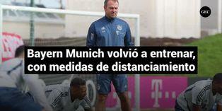 Bayern Munich volvió a los entrenamientos, siguiendo medidas de distanciamiento