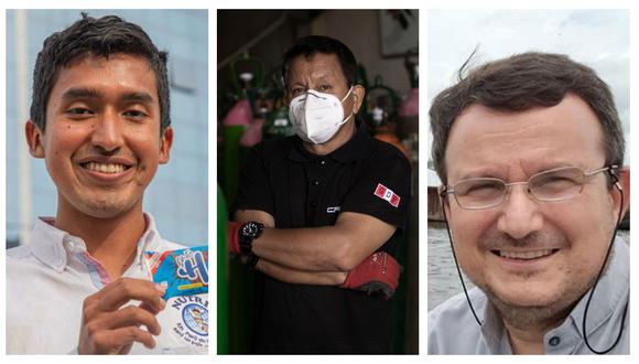 Personajes que nos dieron esperanza en el estado de emergencia por el coronavirus en el país. (Fotos: Andina/ Joel Alonzo/Facebook)