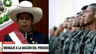 """Pedro Castillo: """"Los jóvenes que no estudian ni trabajan tendrán que ir al servicio militar"""""""