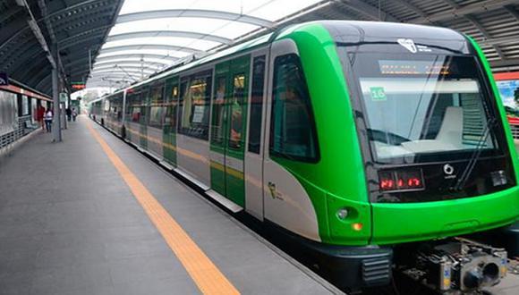 La Línea 1 del Metro de Lima estará operativa hasta las 9 de la noche. (Foto: Andina)