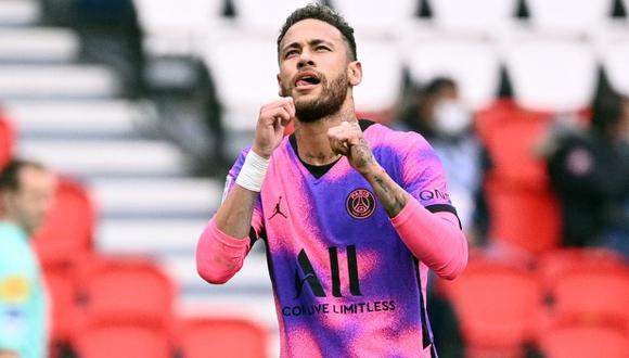 Neymar habló por primera vez desde su renovación con PSG. (Foto: AFP)