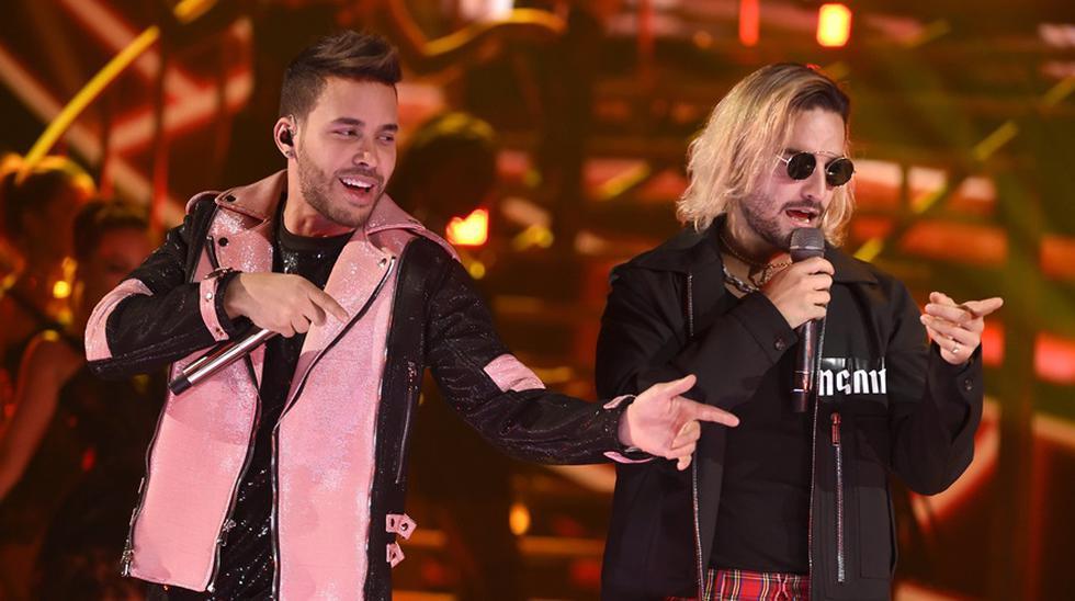 Prince Royce y Maluma en los Latin American Music Awards 2018. (Foto: Agencias)