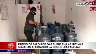 Reportan alza de precio del balón de gas en las últimas semanas