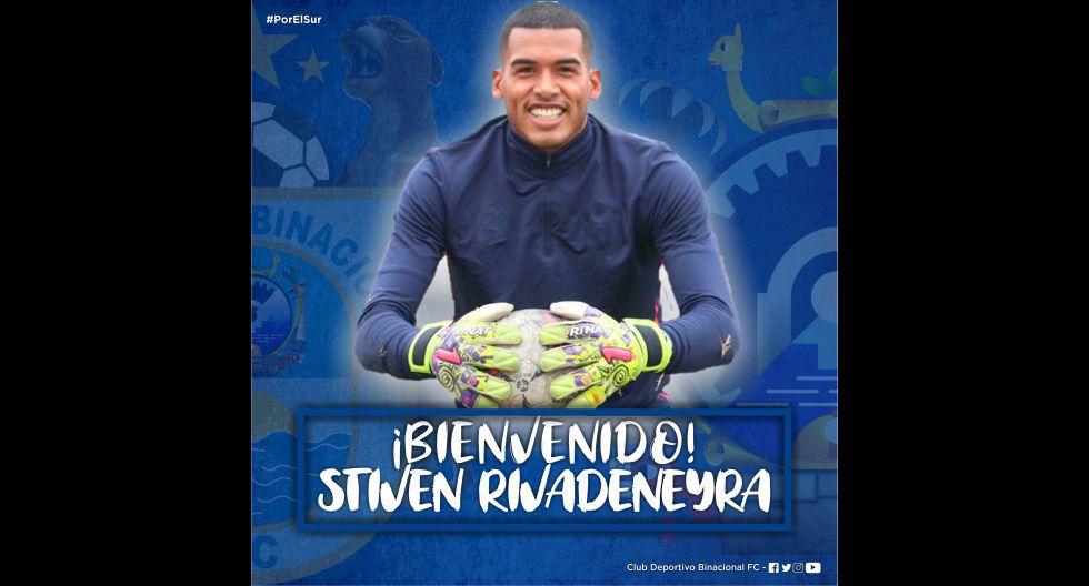 Steven Rivadeneyra procedente de Deportivo Municipal. (Foto: Twitter)
