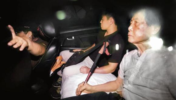 Fujimori cuando fue trasladado al penal. Ayer recibió la visita de congresistas de Fuerza Popular. (Foto: César Bueno)
