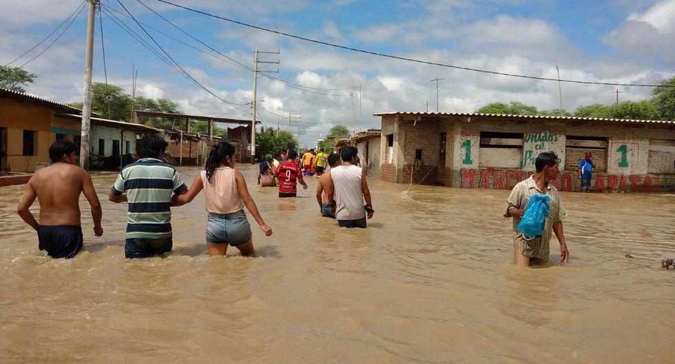 Tras varios días de lluvias en las zonas altas de la región, el peligro de desborde era inminente, aunque nadie calculó un desastre así. El río Piura inundó todo a su paso, como en la localidad de Pedregal Chico. (Foto: archivo Ralph Zapata)