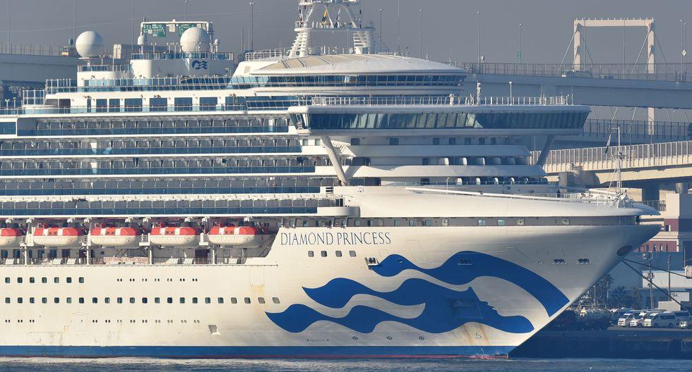 El crucero Diamond Princess está en cuarentena en el puerto de Yokohama debido al coronavirus. (AFP / Kazuhiro NOGI).