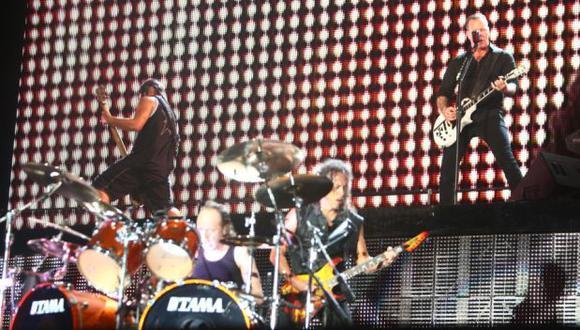 Metallica, banda estadounidense en el escenario. (Foto: Agencia)