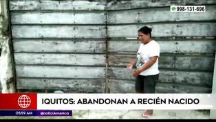 Iquitos: Encuentran a un bebé abandonado en la vía pública