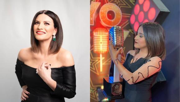 """Laura Pausini saluda el triunfo de su imitadora tras ganar en """"Yo Soy: Nueva generación"""". (Foto: @laurapausini/@fiorellacaballero_oficial)."""