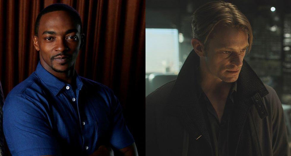 """""""Altered Carbon"""". Anthony Mackie (izq.) interpretará a Takeshi Kovacs, que en la temporada  fue interpretado por Joel Kinnaman (der.). Fotos: Agencias/ Netflix."""