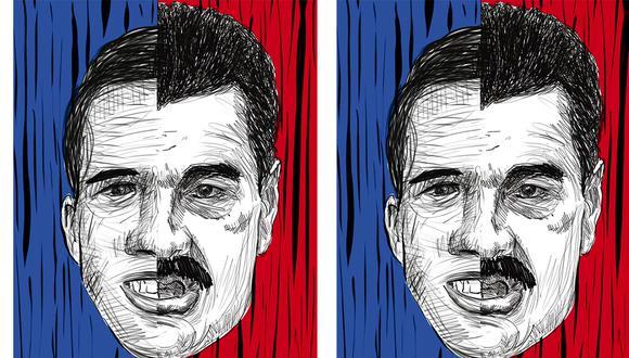 Juan Guaidó sigue siendo el referente de la oposición venezolana frente a Nicolás Maduro. Ilustración: Giovanni Tazza