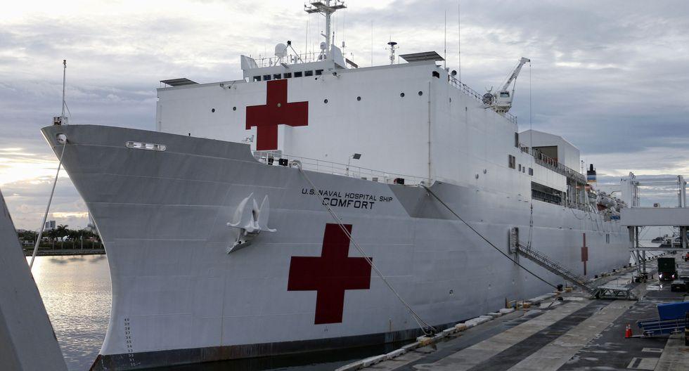 USNS Comfort: Buque hospital de Estados Unidos atenderá crisis migratoria venezolana en Latinoamérica. (AFP).