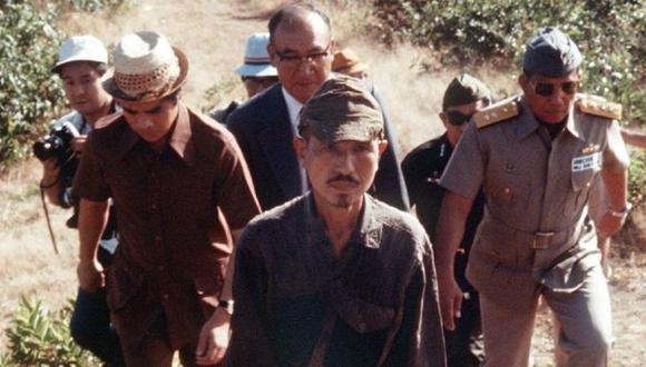 El lugarteniente Hiroo Onda abandonó la jungla de Filipinas en 1974. (GETTY IMAGES).