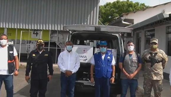 Durante la llegada de este nuevo lote estuvieron presentes representantes de la Contraloría General de la República, del Ejército del Perú, Policía Nacional y de las principales autoridades de la región. (Foto: captura Facebook Gore Tumbes)