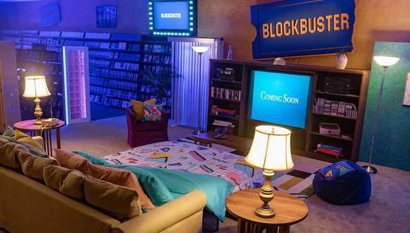Una noche de películas en el último Blockbuster, disponible gracias a Airbnb. (Foto: Blockbuster / Airbnb)