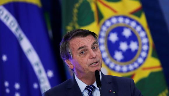 El presidente de Brasil, Jair Bolsonaro. REUTERS