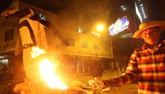 Pueblo Libre: mil soles de multa por quemar muñeco en Año Nuevo