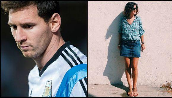 ¿El rostro de Messi está en la sombra de esta mujer?