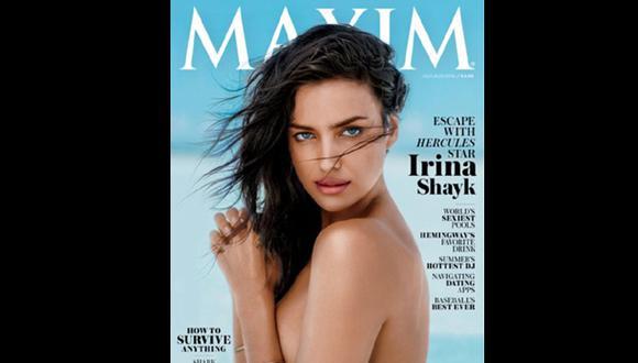 "Irina Shayk posa en 'topless' para la revista ""Maxim"""