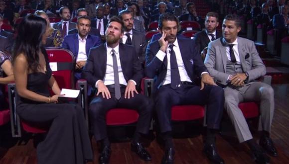 La divertida respuesta de Cristiano Ronaldo que hizo reír a Gianluigi Buffon. (Foto: Captura)
