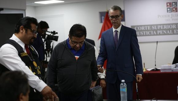 Juan Sotomayor y Víctor Albrecht tras el fallo. (Foto: Fernando Sangama)