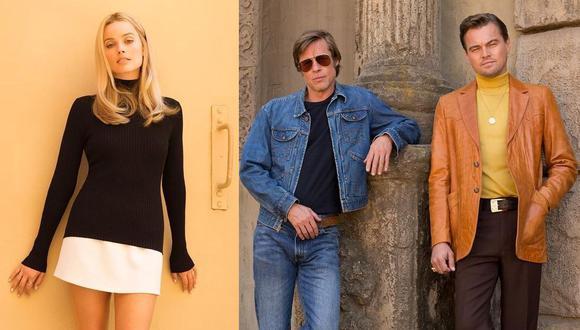 """Margot Robbie, Brad Pitt y Leonardo DiCaprio son los personajes principales de """"Once Upon a Time in Hollywood"""". (Foto: @onceinhollywood)"""