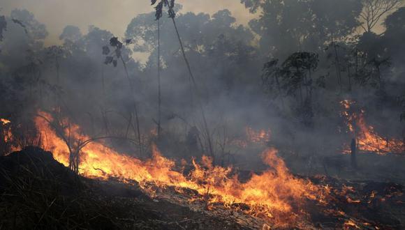 La Amazonía, la mayor reserva forestal tropical del mundo, se extiende sobre 7,4 millones de kilómetros cuadrados. En la imagen, el fuego (Foto: AP)