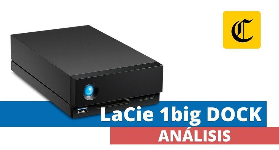 Esta unidad de almacenamiento profesional 1big DOCK de LaCie está pensada para quienes trabajan con grandes volúmenes de información. (El Comercio)